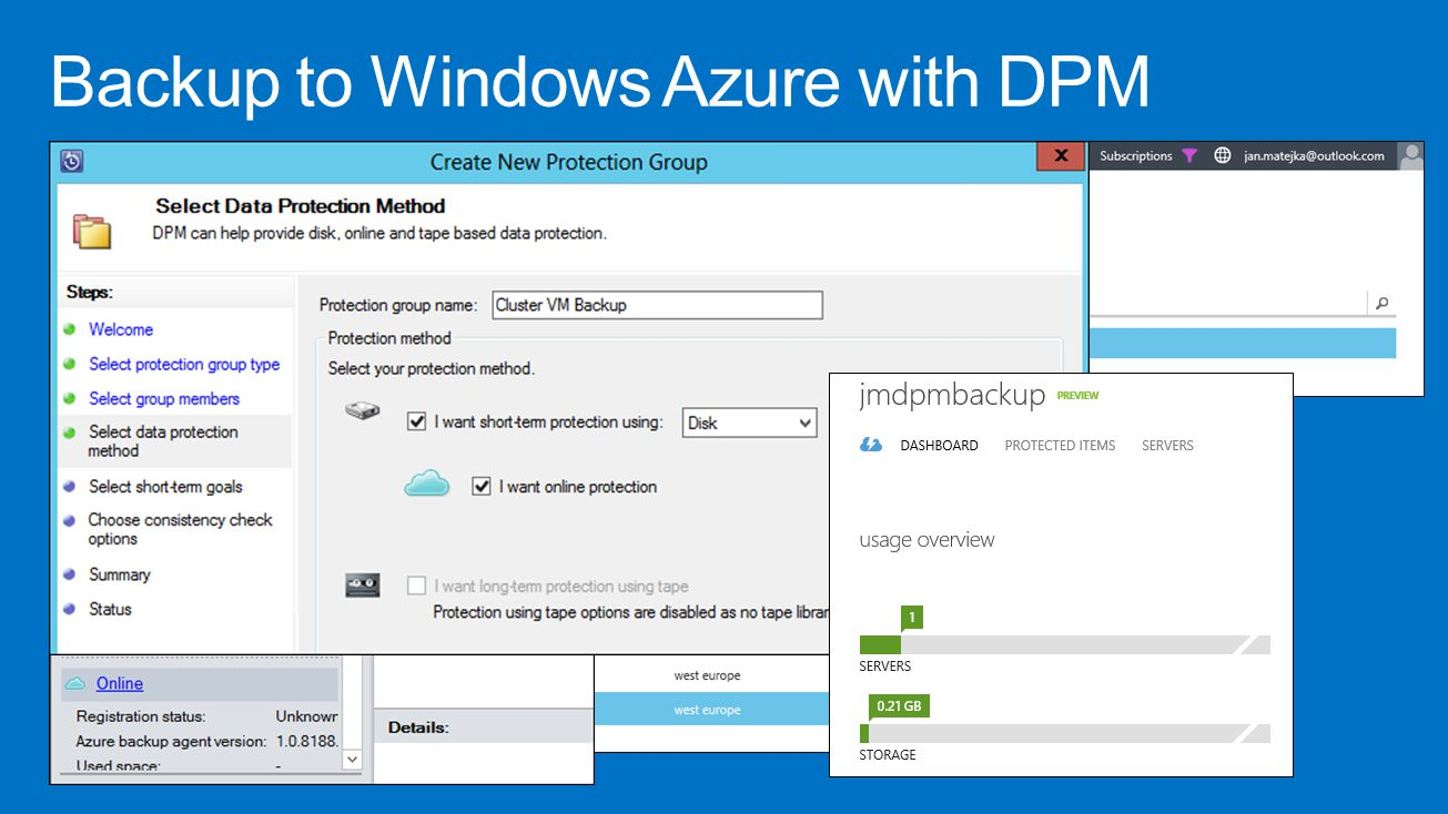 Backup to Windows Azure with DPM