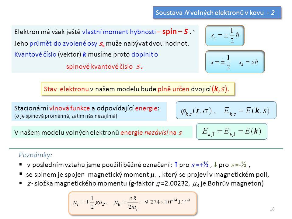 spinové kvantové číslo s .