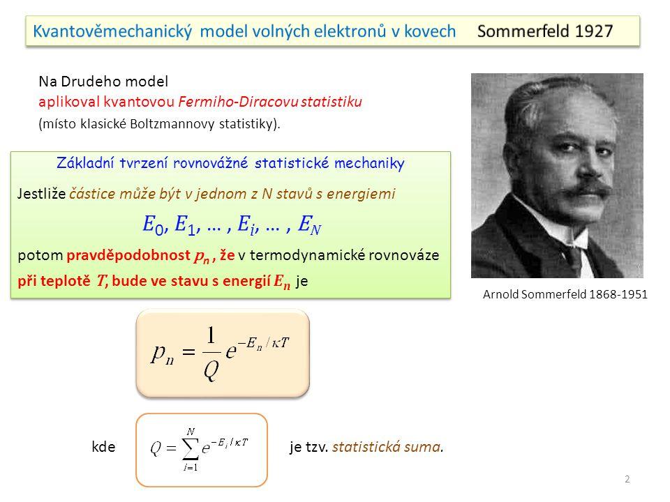 Základní tvrzení rovnovážné statistické mechaniky