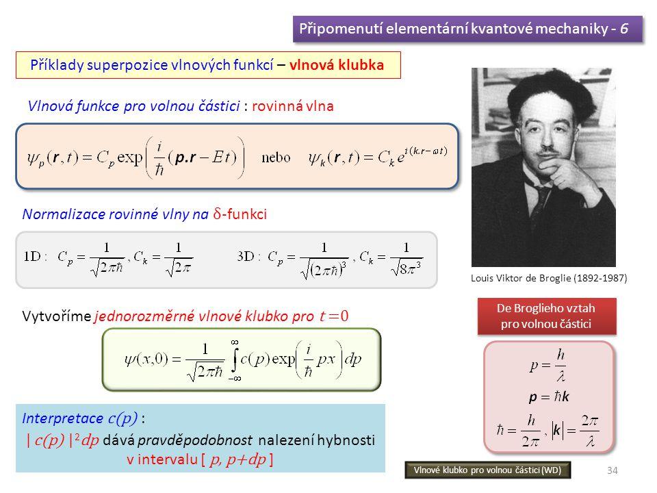 Připomenutí elementární kvantové mechaniky - 6