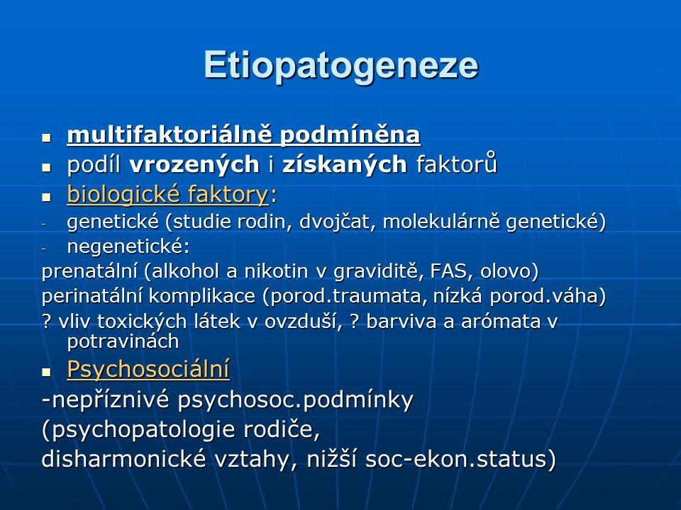 Etiopatogeneze multifaktoriálně podmíněna