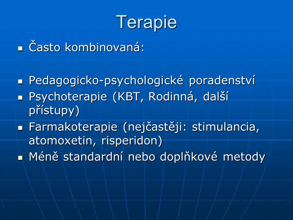 Terapie Často kombinovaná: Pedagogicko-psychologické poradenství