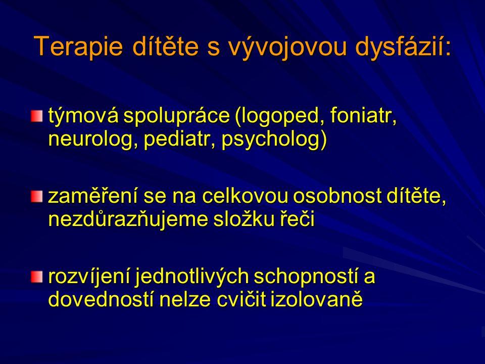 Terapie dítěte s vývojovou dysfázií: