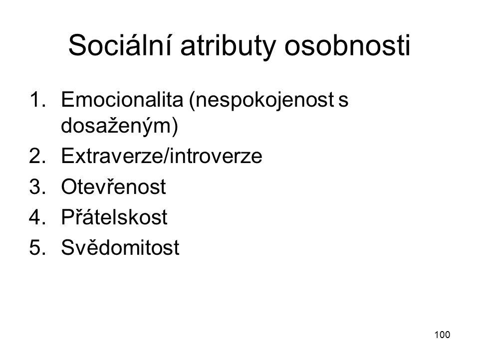 Sociální atributy osobnosti