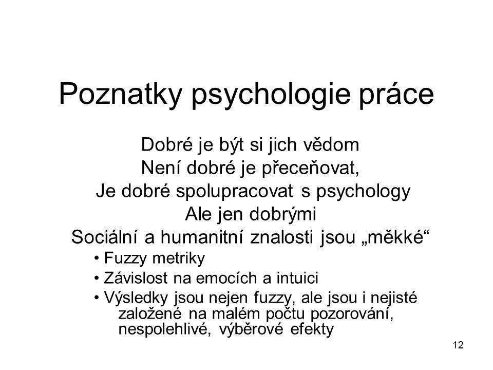 Poznatky psychologie práce