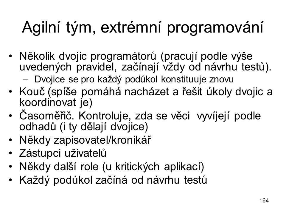 Agilní tým, extrémní programování