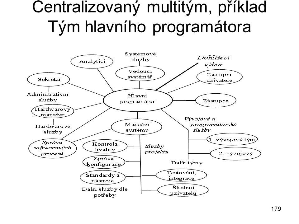 Centralizovaný multitým, příklad Tým hlavního programátora