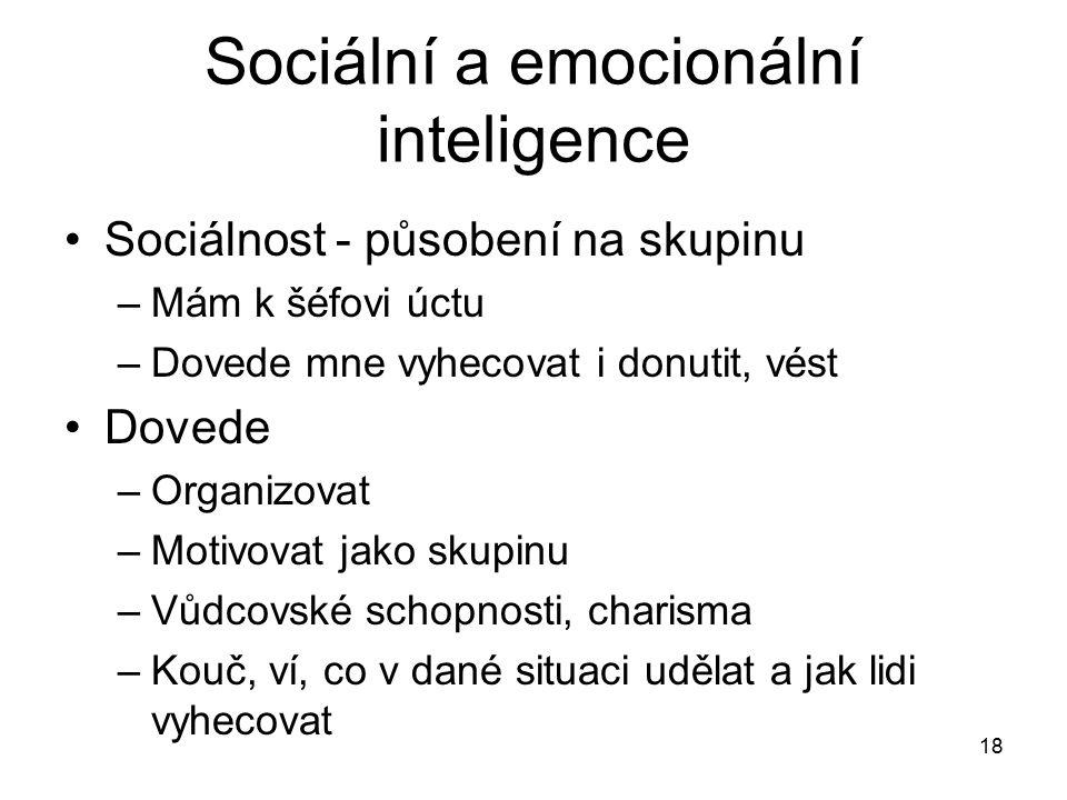 Sociální a emocionální inteligence