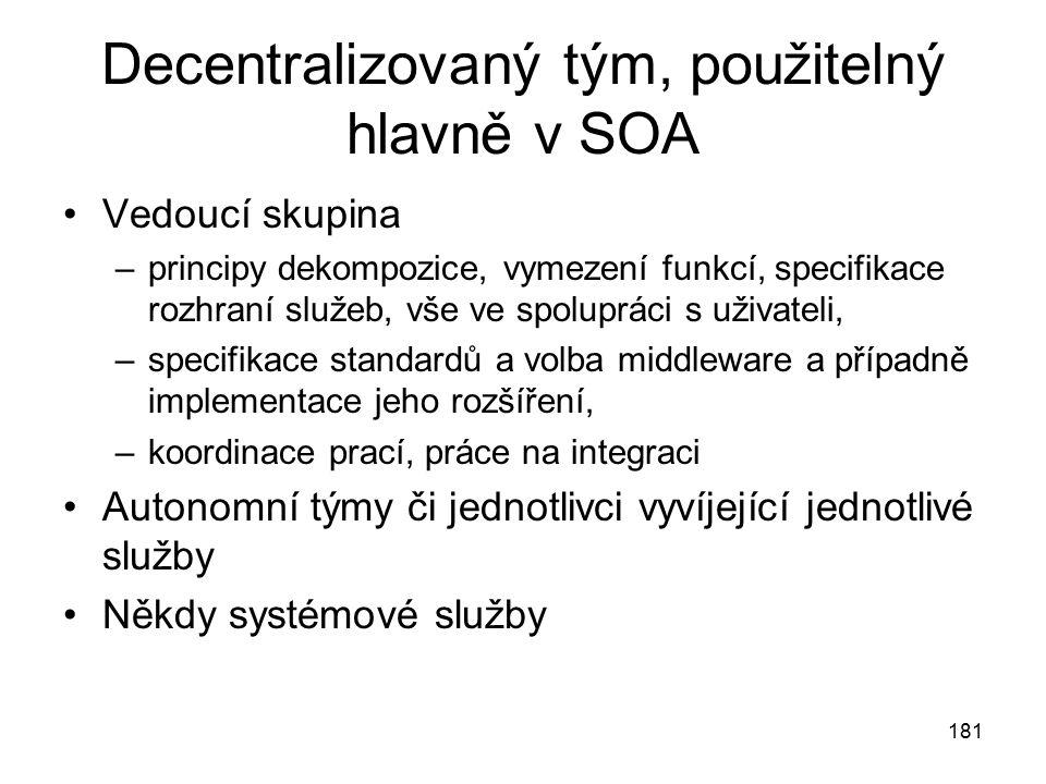 Decentralizovaný tým, použitelný hlavně v SOA