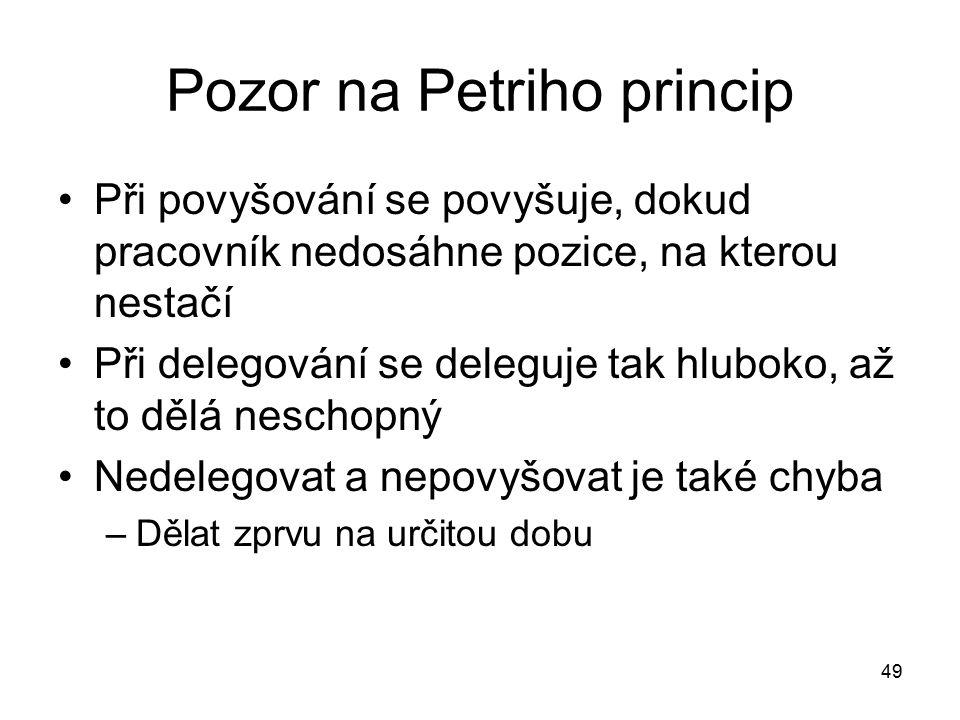 Pozor na Petriho princip