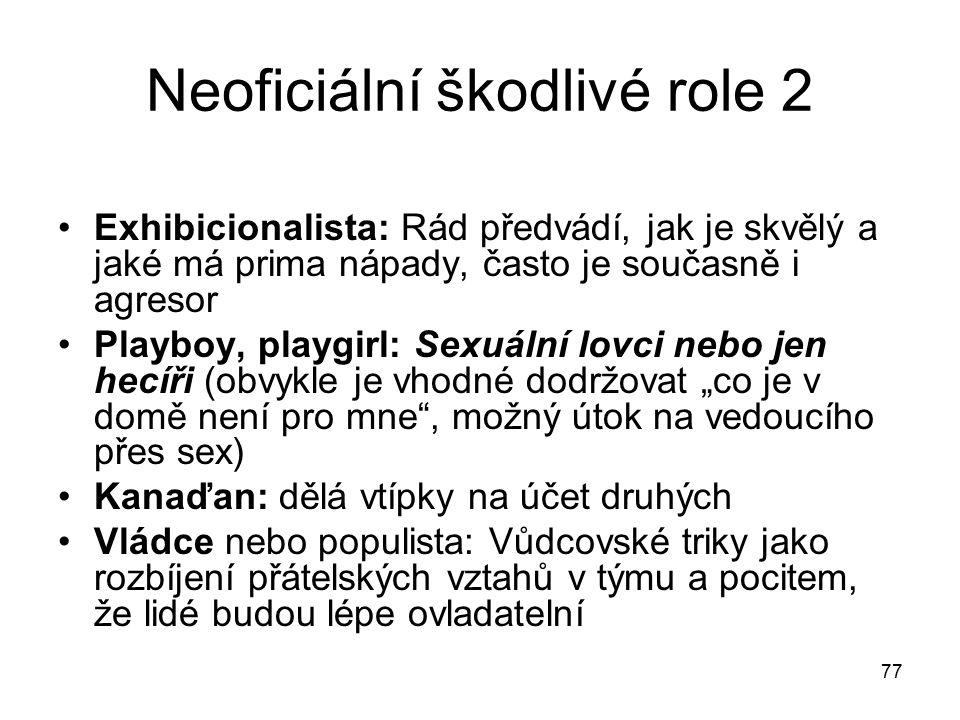 Neoficiální škodlivé role 2
