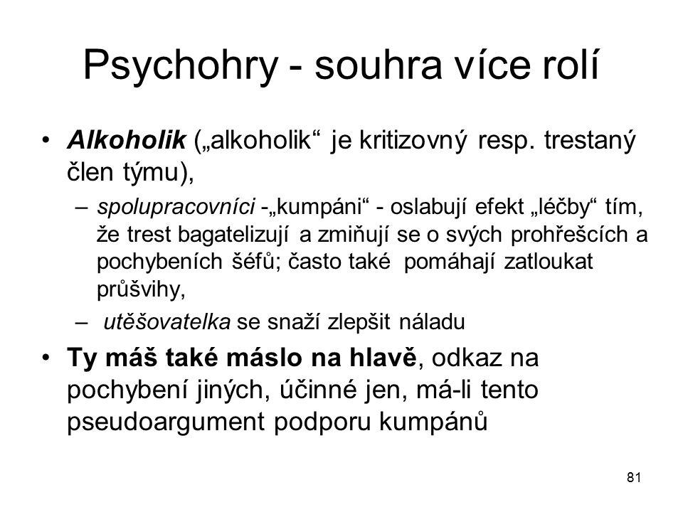 Psychohry - souhra více rolí