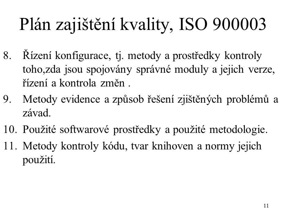 Plán zajištění kvality, ISO 900003