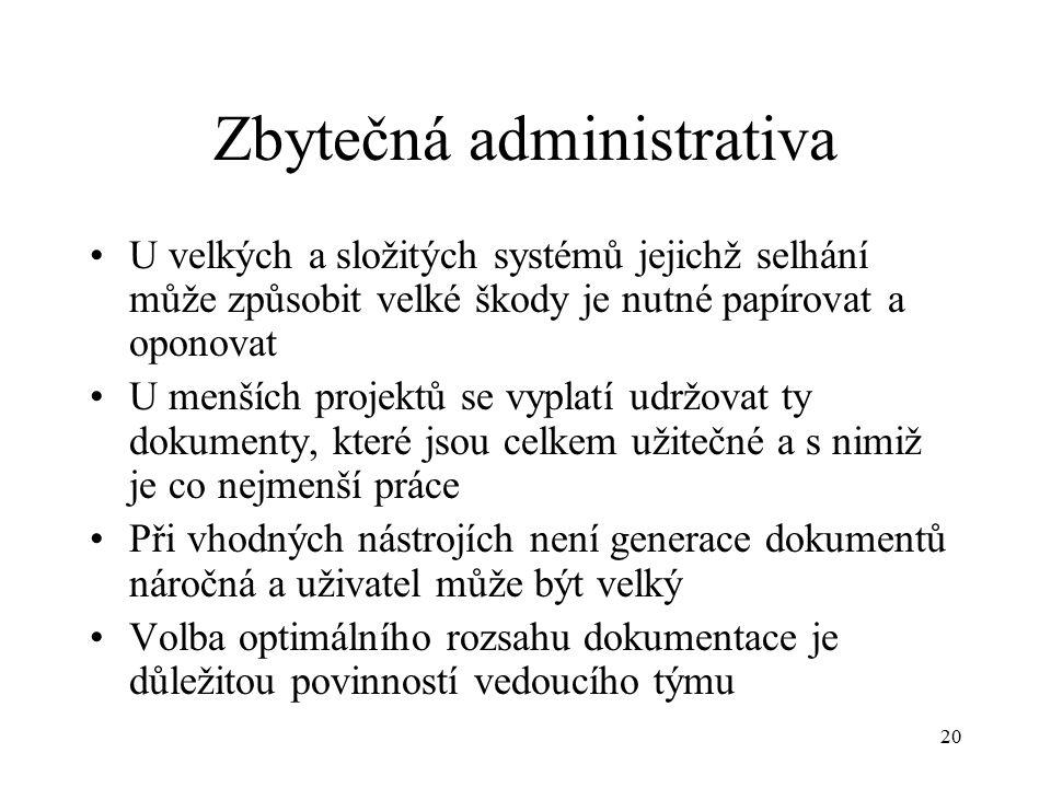 Zbytečná administrativa