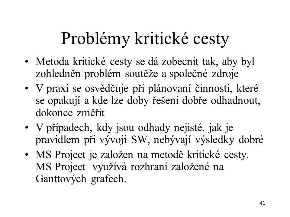 Problémy kritické cesty