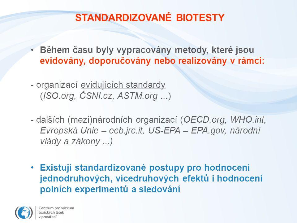 STANDARDIZOVANÉ BIOTESTY