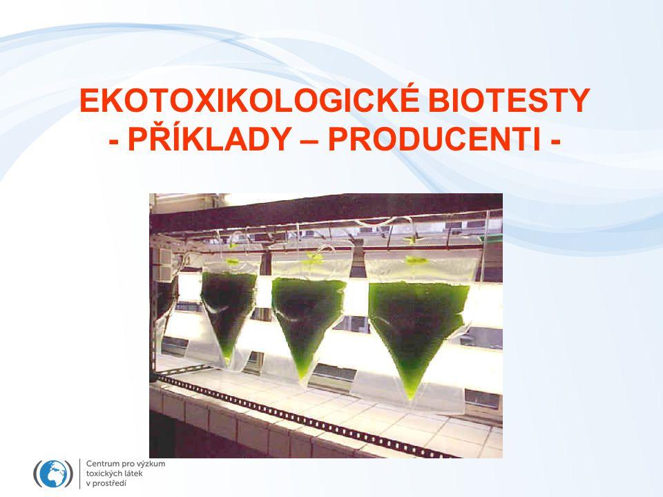 EKOTOXIKOLOGICKÉ BIOTESTY - PŘÍKLADY – PRODUCENTI -