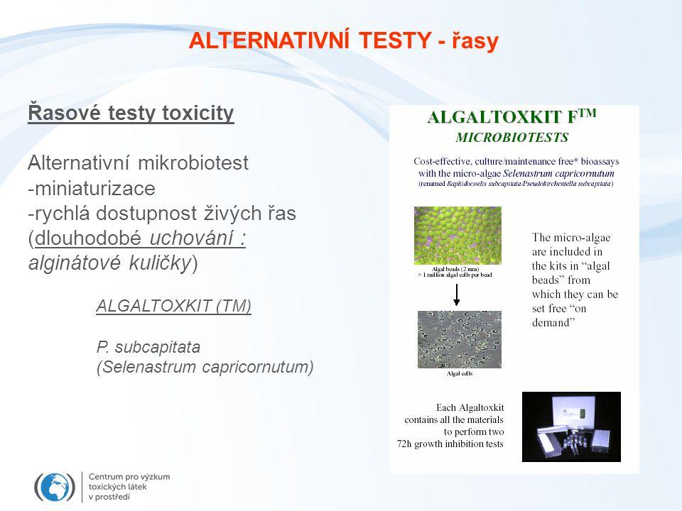 ALTERNATIVNÍ TESTY - řasy