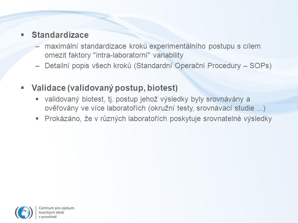 Validace (validovaný postup, biotest)