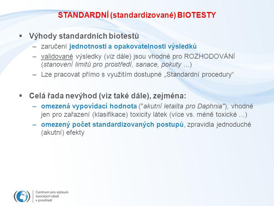 STANDARDNÍ (standardizované) BIOTESTY