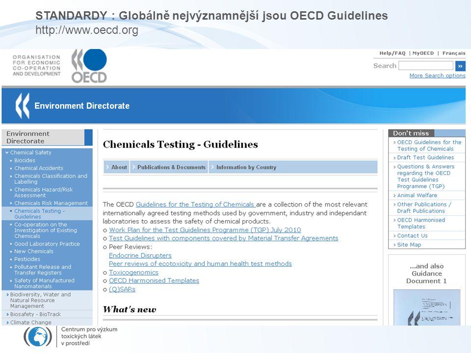 STANDARDY : Globálně nejvýznamnější jsou OECD Guidelines