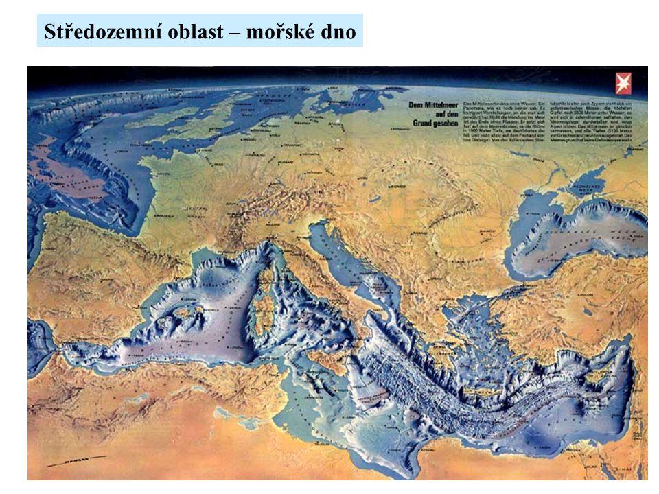 Středozemní oblast – mořské dno