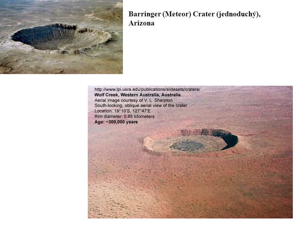 Barringer (Meteor) Crater (jednoduchý),