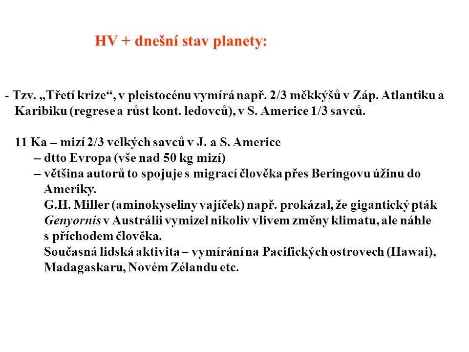 HV + dnešní stav planety: