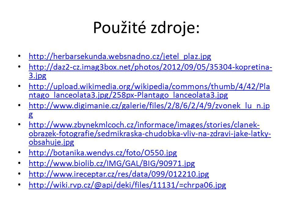 Použité zdroje: http://herbarsekunda.websnadno.cz/jetel_plaz.jpg