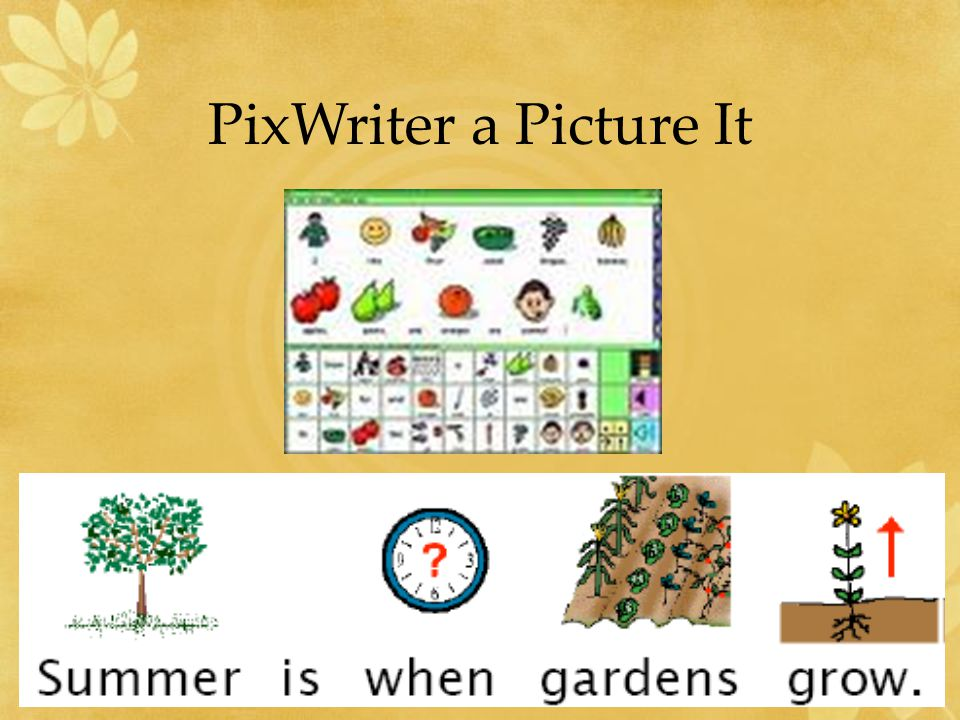 PixWriter a Picture It