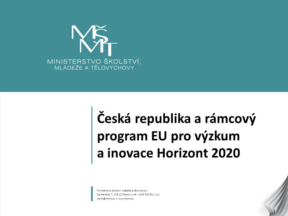 Česká republika a rámcový program EU pro výzkum a inovace Horizont 2020