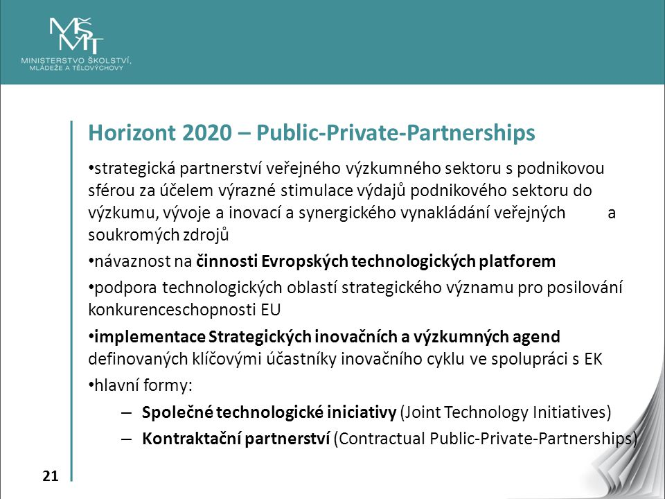 Horizont 2020 – Public-Private-Partnerships