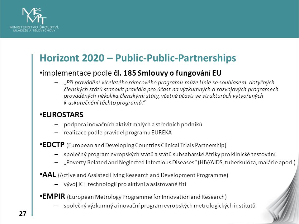 Horizont 2020 – Public-Public-Partnerships