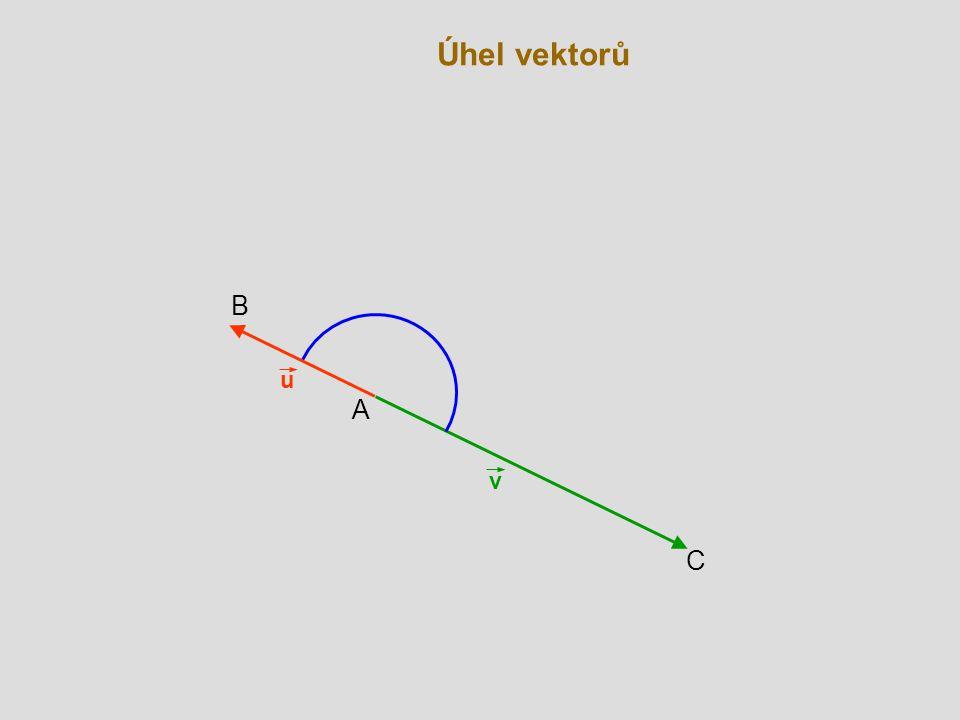 Úhel vektorů B u A v C