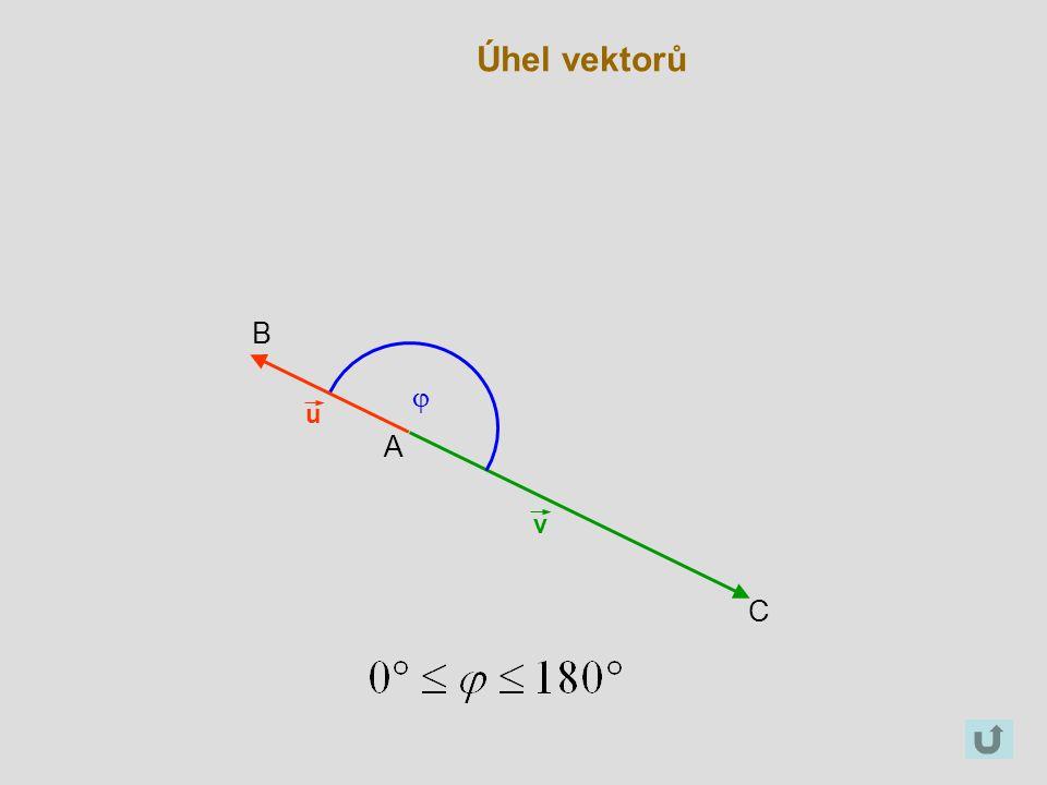 Úhel vektorů B j u A v C