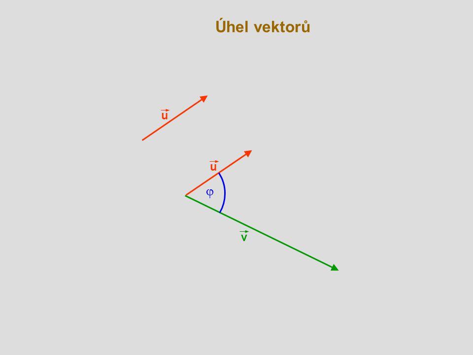 Úhel vektorů u u j v