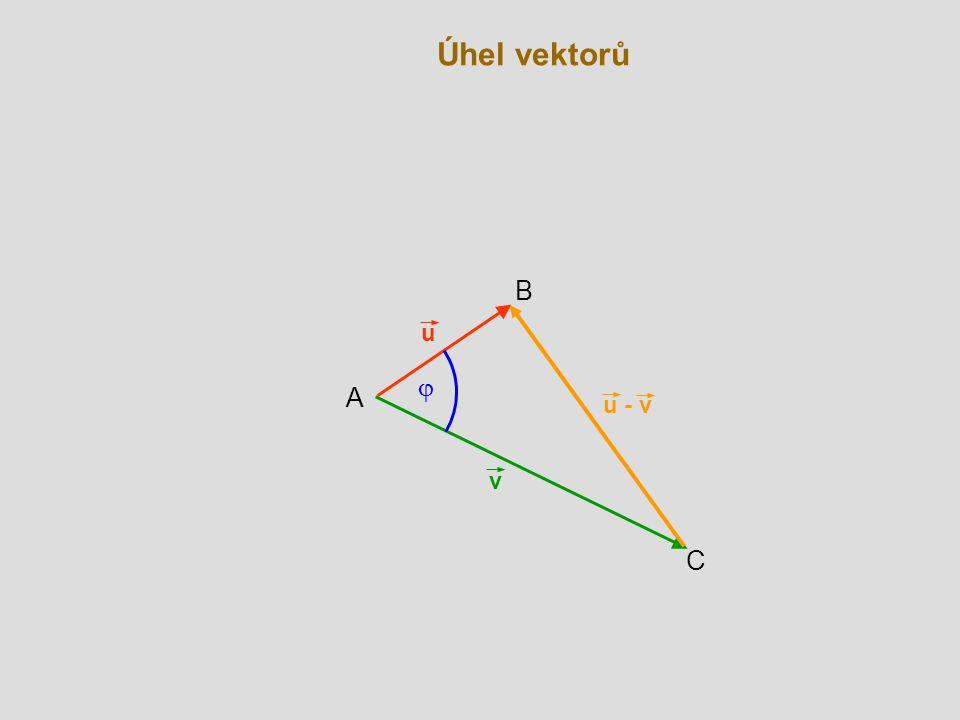 Úhel vektorů B u j A u - v v C