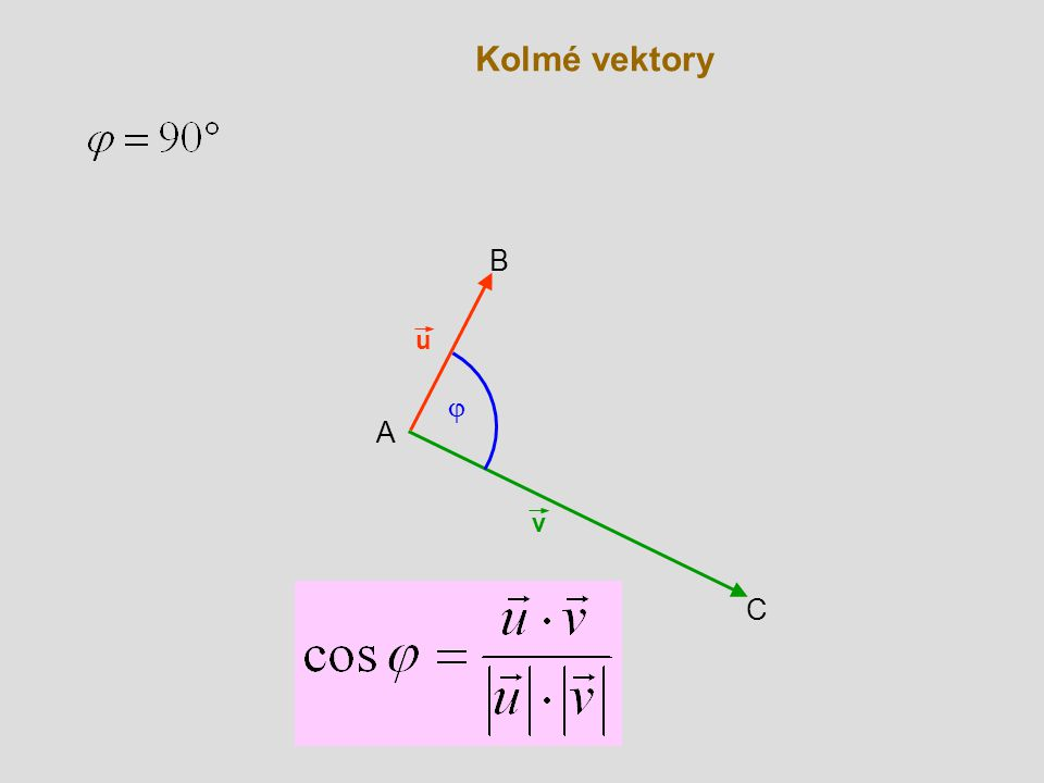 Kolmé vektory B u j A v C