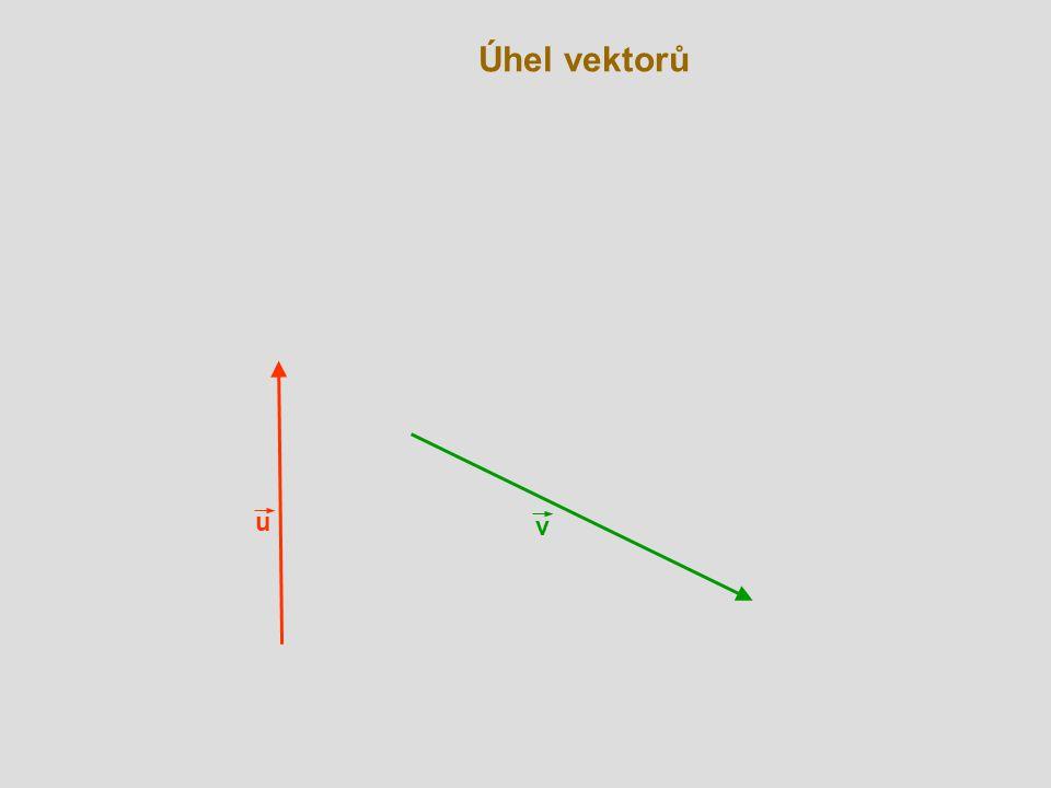 Úhel vektorů u v