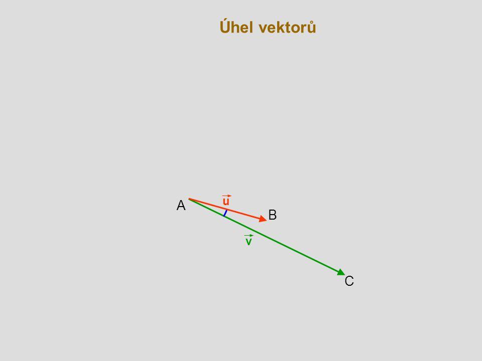 Úhel vektorů u A B v C