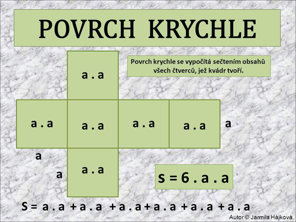 POVRCH KRYCHLE s = 6 . a . a a . a a . a a . a a a . a a . a a a . a a