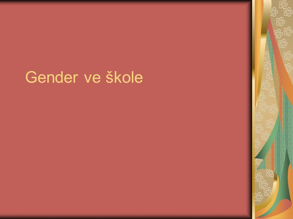 Gender ve škole
