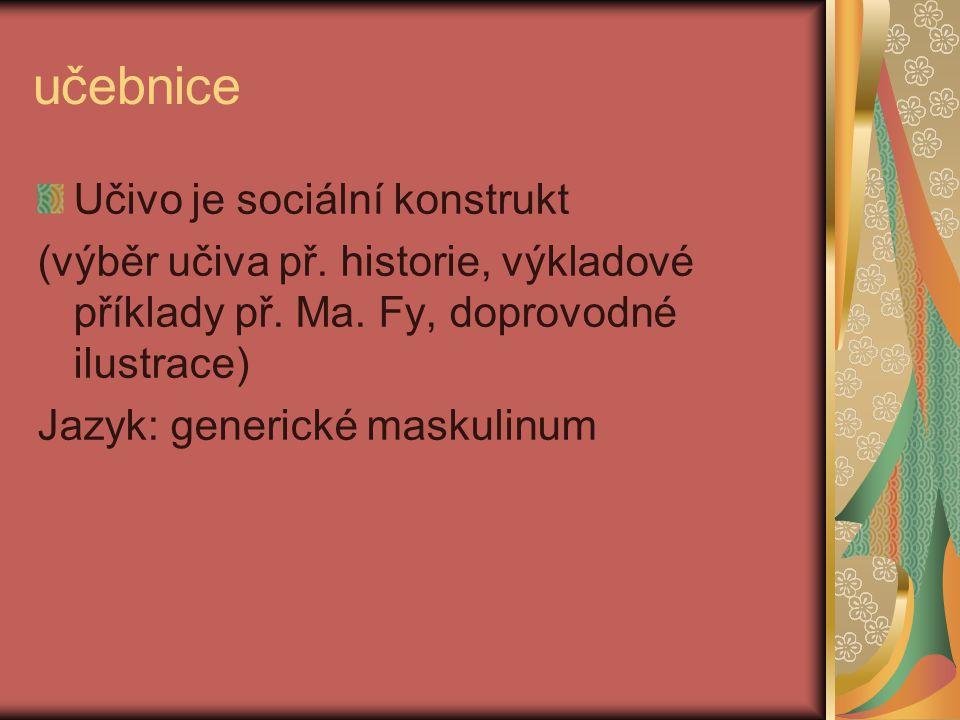 učebnice Učivo je sociální konstrukt