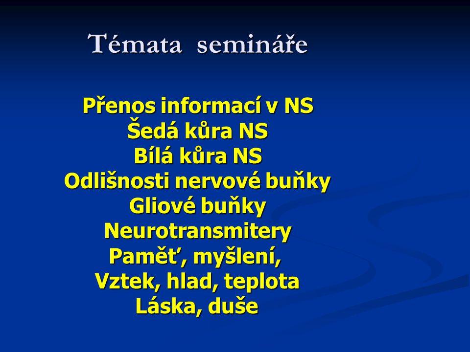 Odlišnosti nervové buňky