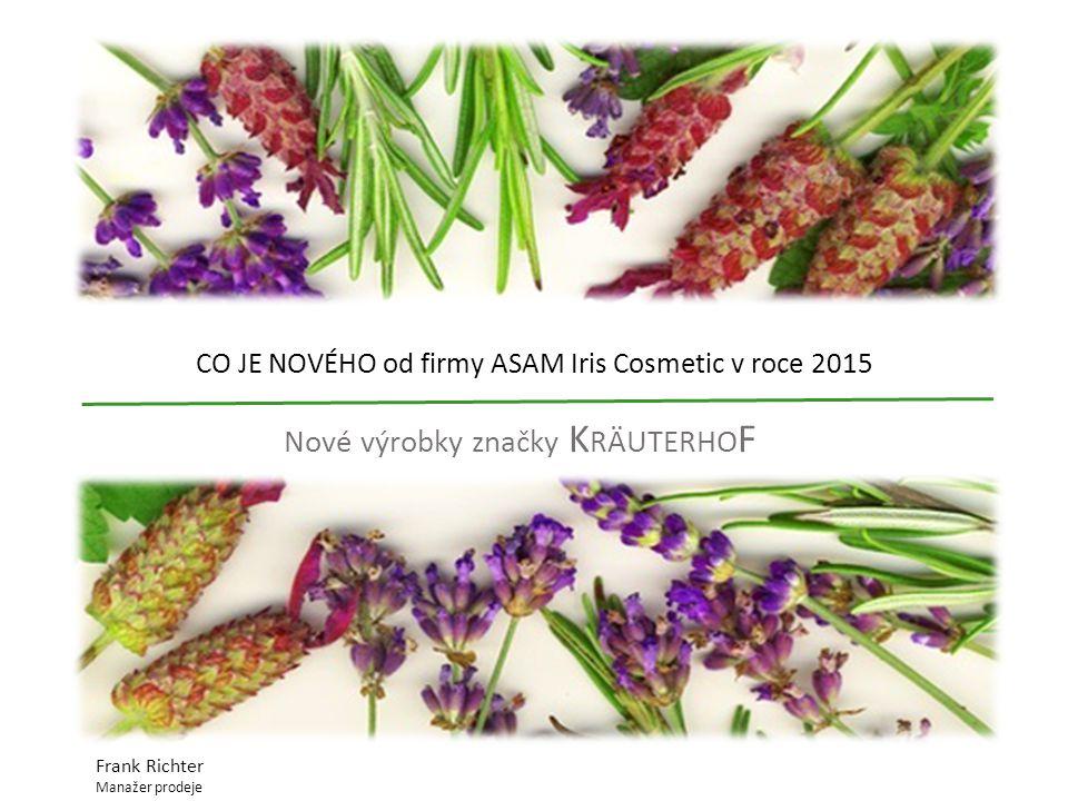 CO JE NOVÉHO od firmy ASAM Iris Cosmetic v roce 2015