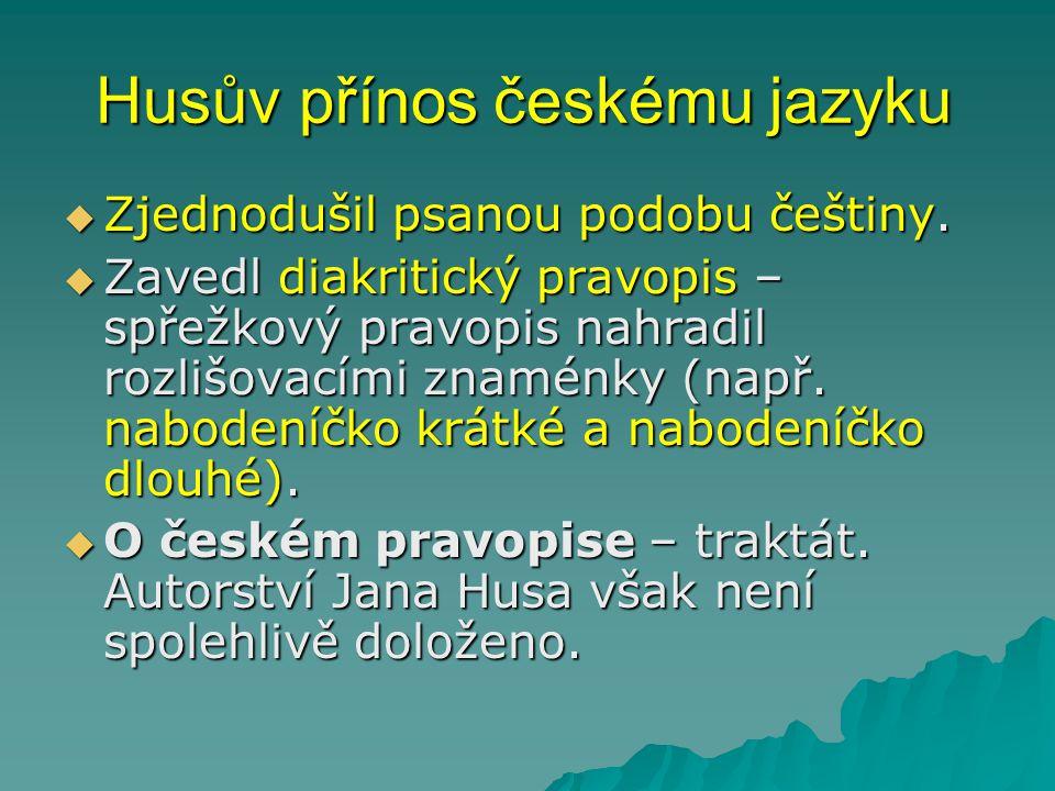 Husův přínos českému jazyku