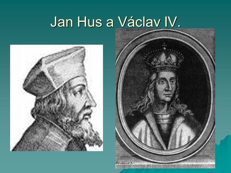 Jan Hus a Václav IV.