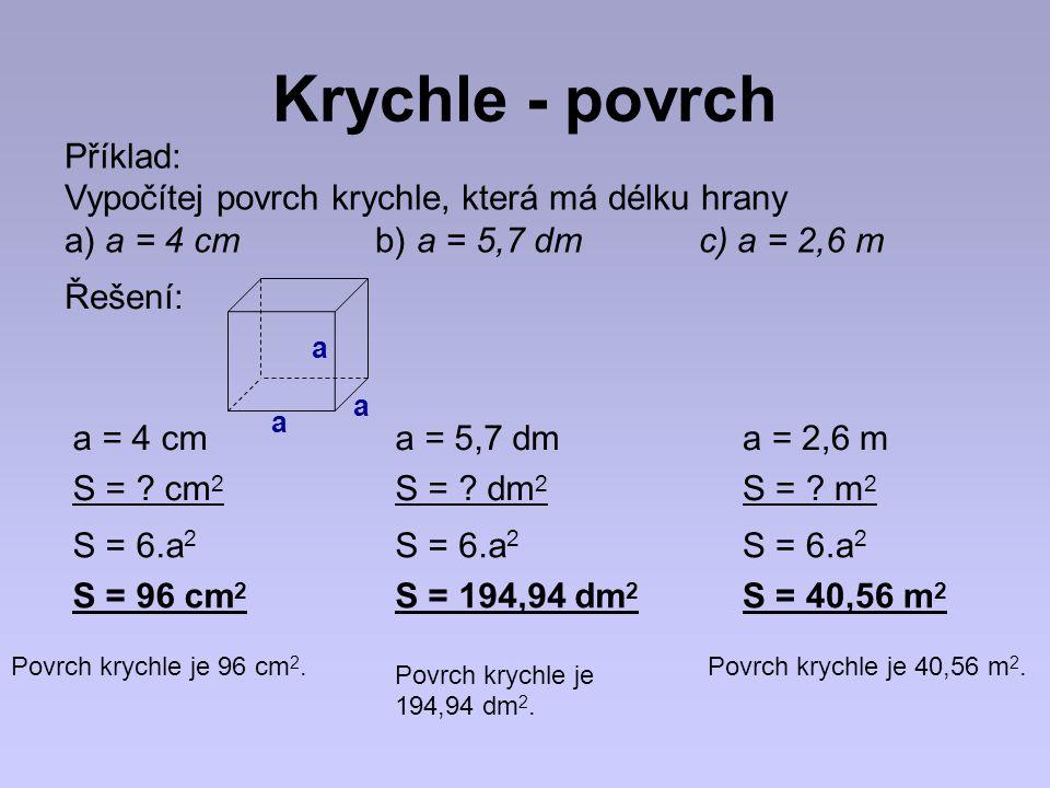 Krychle - povrch Příklad: