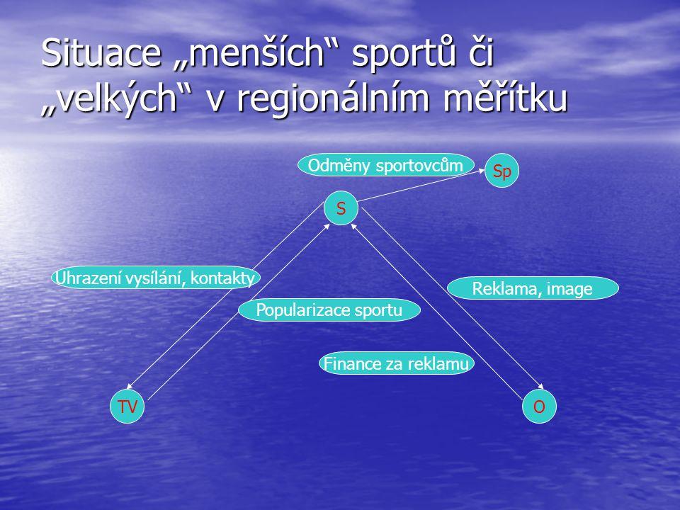 """Situace """"menších sportů či """"velkých v regionálním měřítku"""