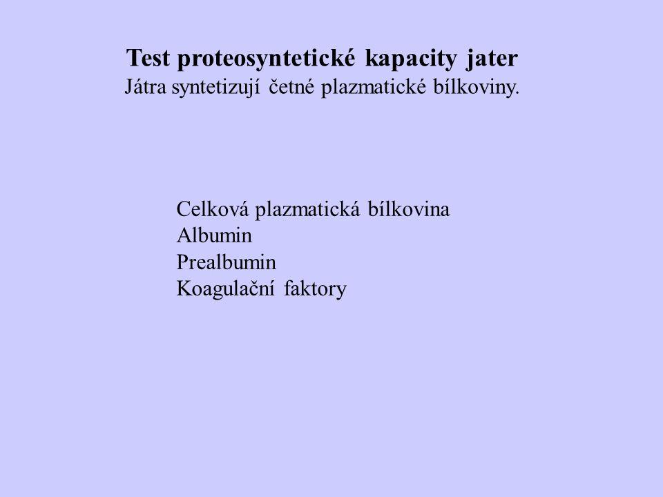 Test proteosyntetické kapacity jater